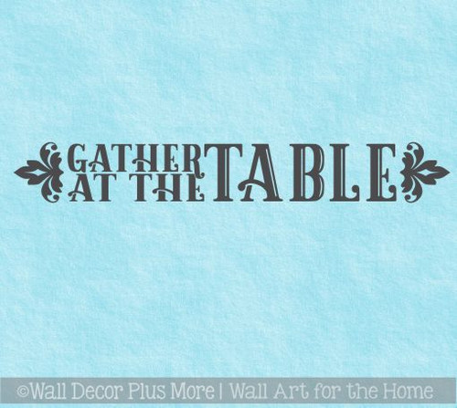 Farmhouse Wall Stickers Gather At The Table Vinyl Kitchen Wall Decals