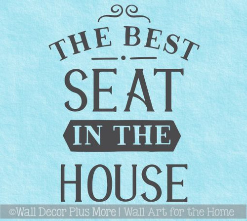 Bathroom Wall Decor Best Seat In House Funny Wall Stickers Home Decor