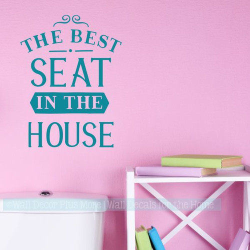 Bathroom Wall Decor Best Seat In House Funny Wall Stickers Home Decor-Teal