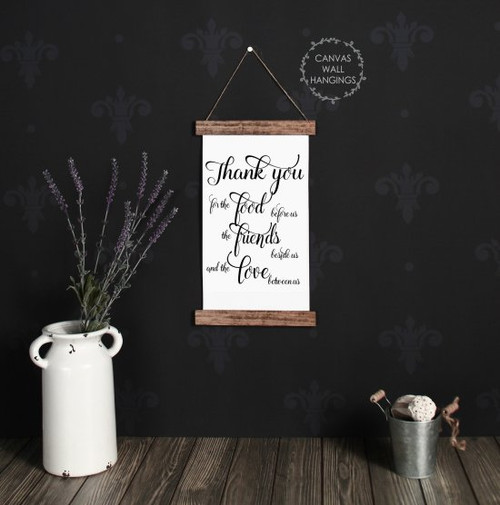 9x15 - Wood & Canvas Wall Hanging, Thank You Verse Kitchen Wall Art