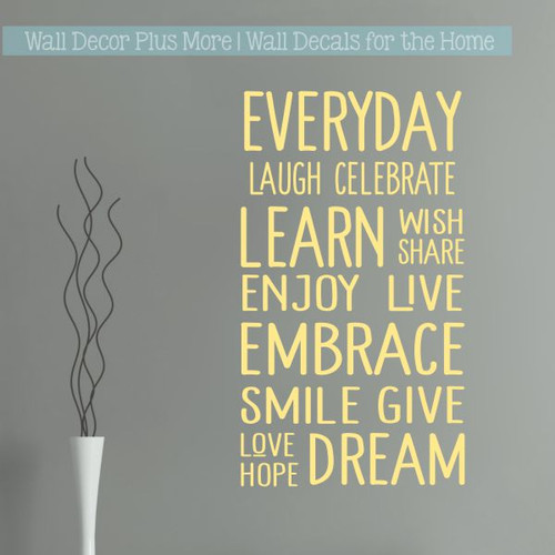 Wall Decals Everyday Words Subway Art Kids Room Stickers For Wall Decor-Buttercream