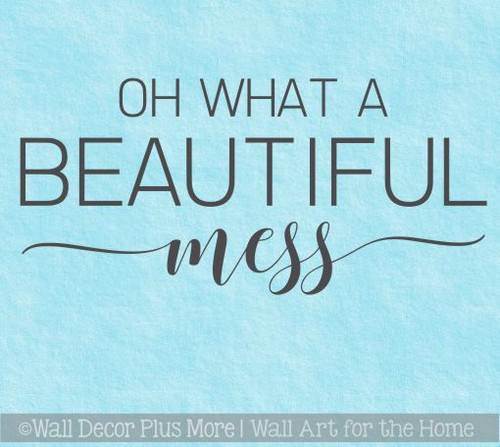 Wall Decals For Kitchen Oh Beautiful Mess Family Quote Home Wall Decor
