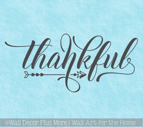 Farmhouse Wall Art Stickers Thankful Vinyl Kitchen Wall Décor Decals