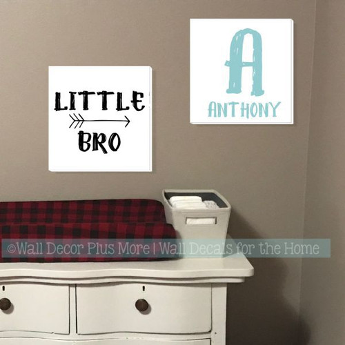 Option 5, Option 2- Canvas Prints Boys Bedroom Wall Art Decor Name Man Bro 14x14 Choose 2