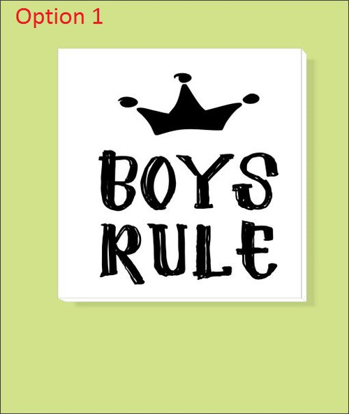Option 1- Canvas Prints Boys Bedroom Wall Art Decor Name Man Bro 14x14 Choose 2