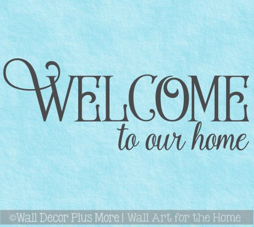 Decals For Wood Signs Welcome To Our Home Wall Decor Vinyl Art Stickers