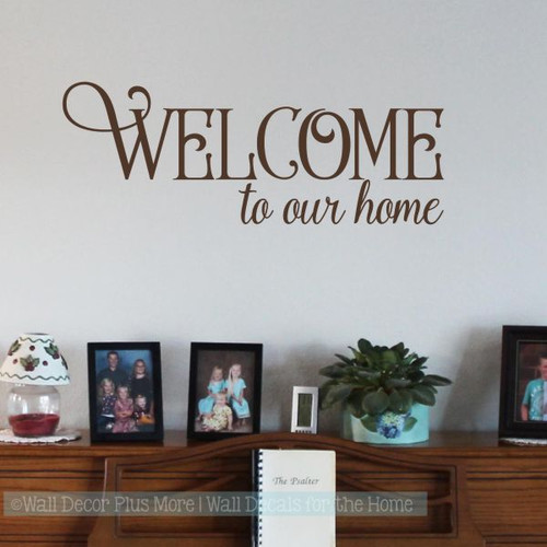 Wall Decor Plus More & Decals For Wood Signs Welcome To Our Home Wall Decor Vinyl Art Stickers