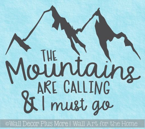 Motor home Decals Mountains Are Calling Camper Art Lettering RV Stickers