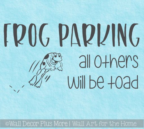 Funny Wall Stickers Frog Parking Others Toad Garden Vinyl Art Decals