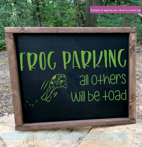 Funny Wall Stickers Frog Parking Others Toad Garden Vinyl Art Decals-Lime Green