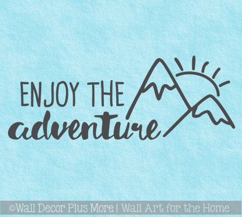 Motorhome Decals Enjoy The Adventure Sunrise Camper Vinyl Art Stickers