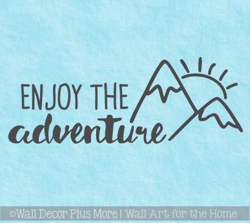 Motorhome Decals Enjoy The Adventure Sunrise Camper Vinyl Art Stickers