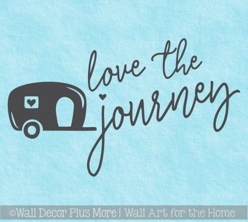 Camper Decals Love The Journey Vintage RV Vinyl Art Stickers Wall Décor