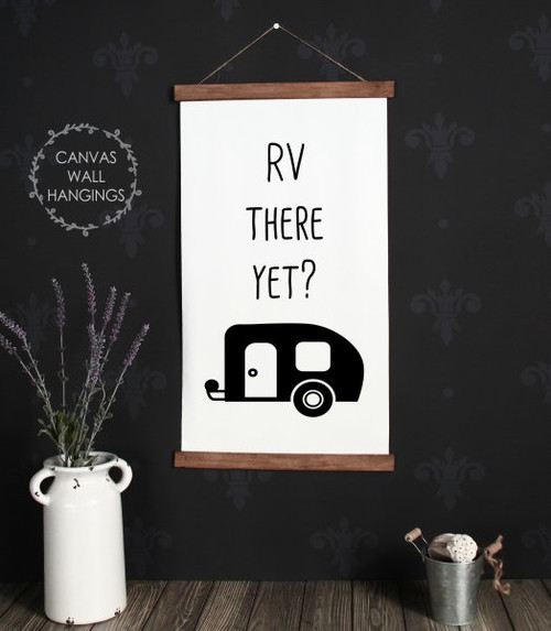 Large 19x24 Wood & Canvas Wall Hanging RV There Yet Vintage Camper Wall Art