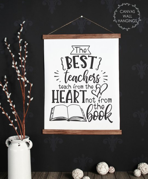 Large 19x24 Wood & Canvas Wall Hanging School Wall Art Sign The Best Teachers