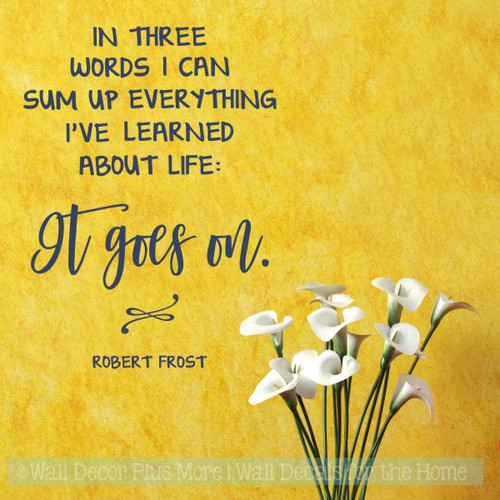 Inspiration Wall Quotes Life Goes On Home Wall Art Decal Sticker Quote-Deep Blue