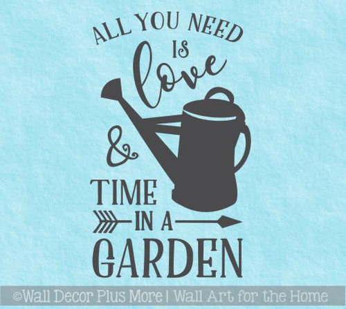 Mothers Day Gift Decal All You Need Time In Garden Love Wall Stickers