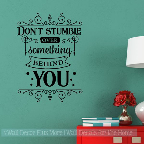 Inspirational Vinyl Wall Quote Don't Stumble Decal Sticker Office Decor-Black