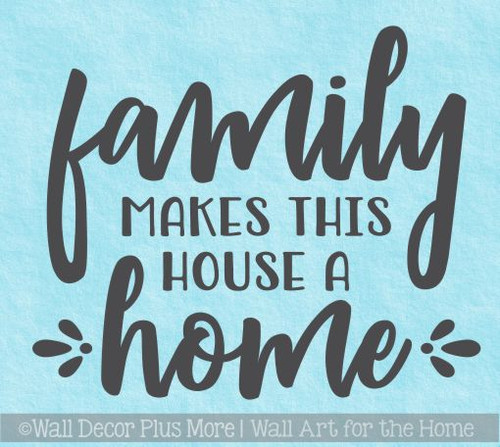 Kitchen Quotes Wall Art Decal Family Makes House Home Vinyl Home Decor