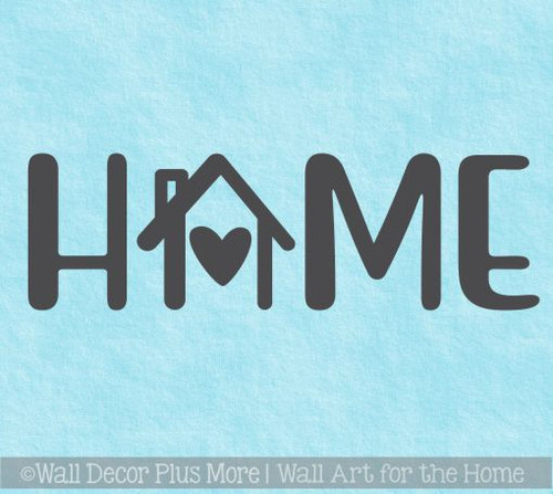 Home Word Decor Kitchen Wall Decals House Art Heart Vinyl Wall Sticker