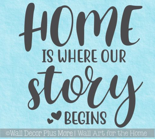 Farmhouse Wall Art Home Where Story Begins Vinyl Wall Decal Stickers