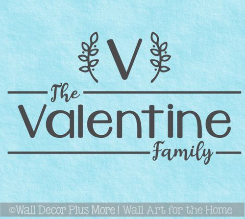 Farmhouse Wall Stickers Monogram Personalized Family Name Vinyl Decals