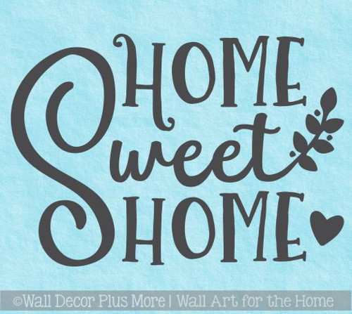 Farmhouse Wall Stickers Home Sweet Home Vinyl Lettering Décor Decals