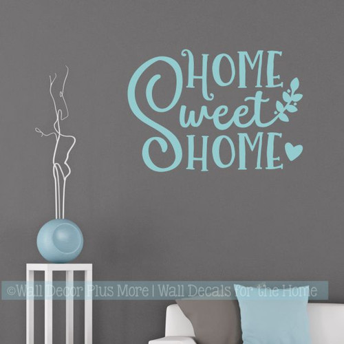 Farmhouse Wall Stickers Home Sweet Home Vinyl Lettering Décor Decals-Beach House