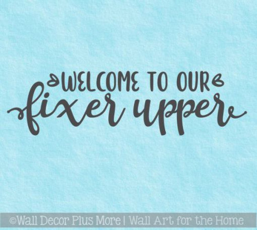 Farmhouse Wall Decals Welcome To Fixer Upper Vinyl Home Decor Stickers