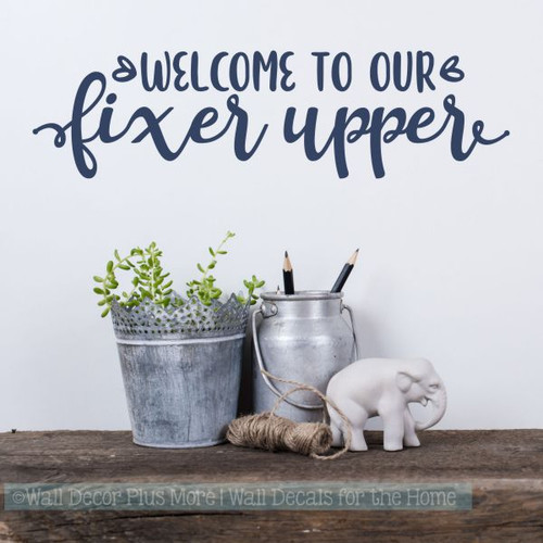 Farmhouse Wall Decals Welcome To Fixer Upper Vinyl Home Decor Stickers-Deep Blue