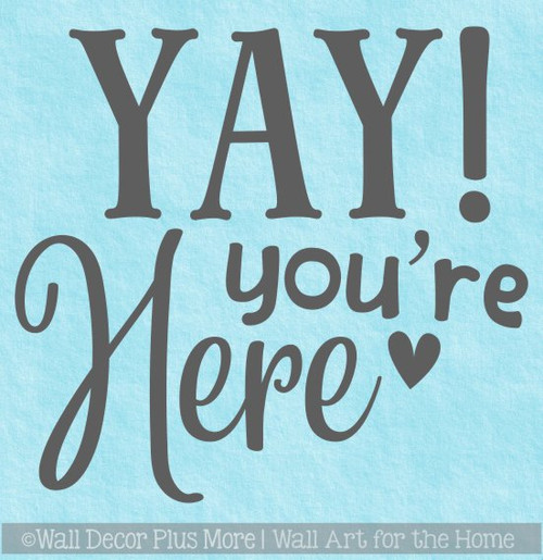 Welcome Wall Decal for Camper Classroom Home Youre Here Vinyl Sticker