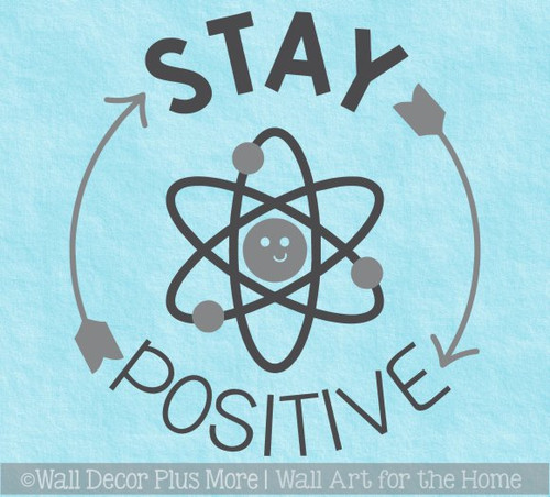 School Wall Art Science Decal Sticker Stay Positive Inspiring Decor