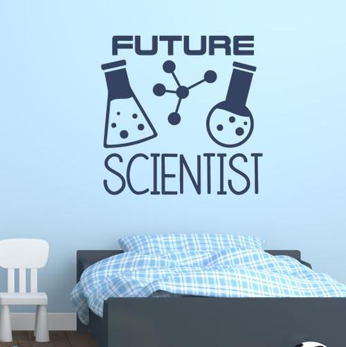 School Wall Art Decor Sticker Future Scientist Kids Bedroom Decal Quote