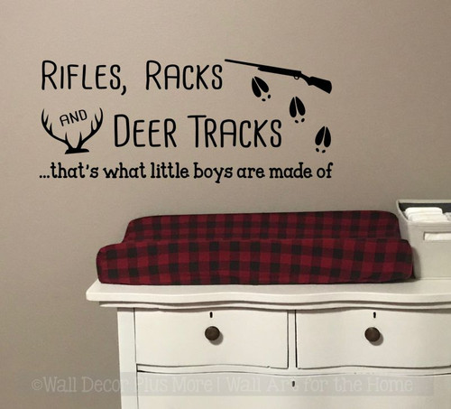 Rifle Racks Deer Track Little Boys Made Of Wall Decal Sticker Kids Room