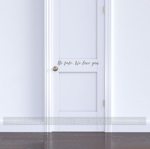 wall decor entryway decal wall vinyls decals art decal sticker Shut the front door! wall decal 5 sizes available