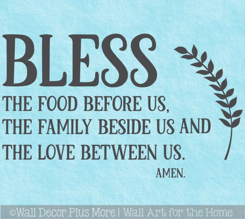 Family Wall Quote Prayer Bless Food Family Love Kitchen Decal Stickers