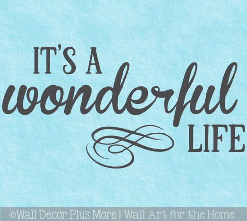 Wonderful Life Wall Decal Sticker Quote Motivational Home Office Words