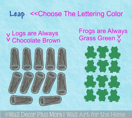 Sensory Path Leap Frog Logs Vinyl Sticker Decals School Hallway Floor 25pc-3 Color