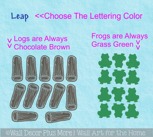 Sensory Path Leap Frog Logs Vinyl Sticker Decals School Hallway Floor 25pc-3 Color