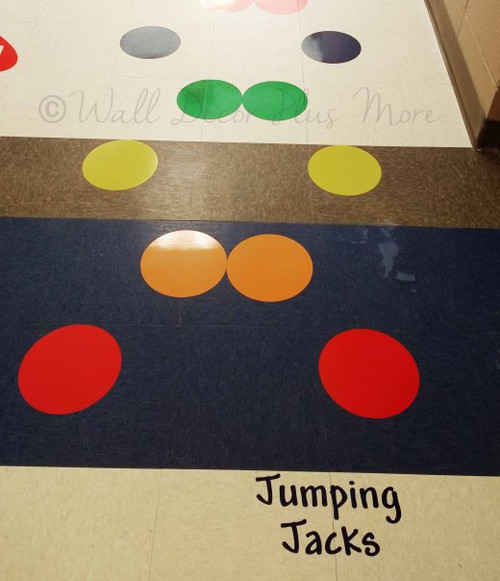 Sensory Path 8 Inch Polka Dot Stickers Vinyl Decals School Hallway Hop