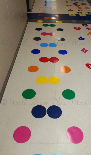 Sensory Path 8-Inch Polka Dot Stickers Vinyl Decals School Hallway Hop customer shared