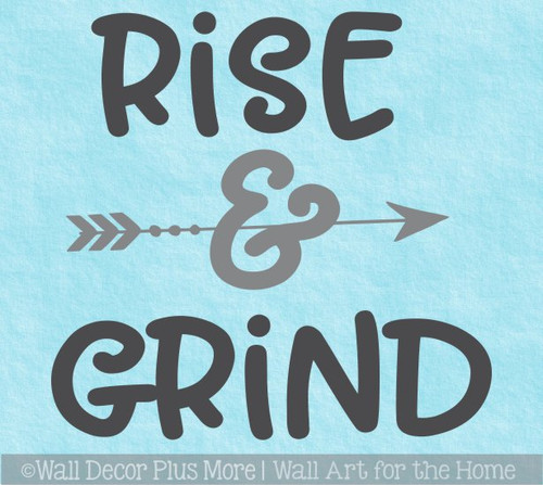 Office Gym Wall Decal Rise Grind Vinyl Lettering Motivational Sticker
