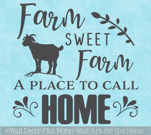 Farm Place to Call Home Wall Decal Sticker Quote Vinyl Lettering Words WD1690