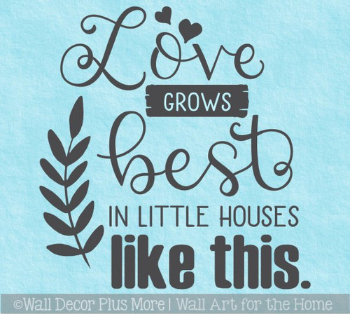 Love Little Houses Like This Quote Home Wall Decal Vinyl Art Decor Sticker WD1692