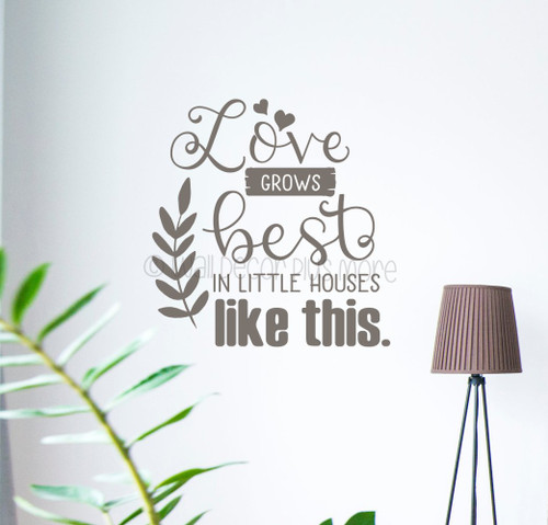 Love Little Houses Like This Quote Home Wall Decal Vinyl Art Decor Sticker WD1692 Tumbleweed