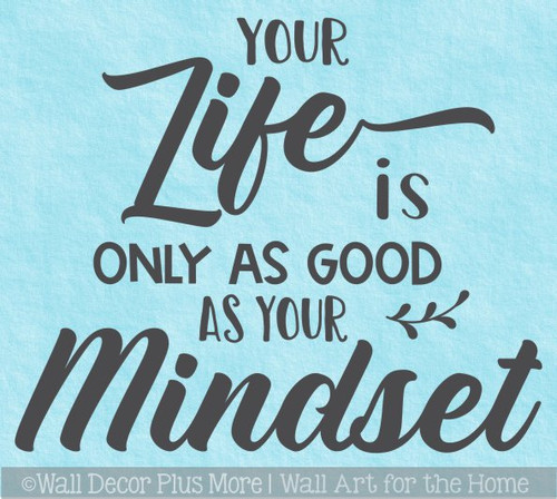 Good Mindset Inspiring Wall Decal Sticker Quote about Life Home Decor