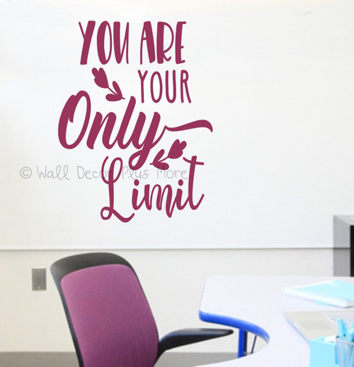 Healthy Living Inspiring Wall Art You Are Only Limit Wall Decal Sticker-Berry