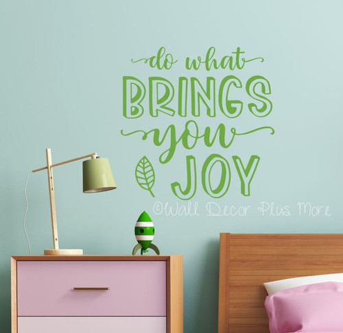 Inspirational Wall Art Quote Do What Brings You Joy Decor Decal Sticker-Lime Green