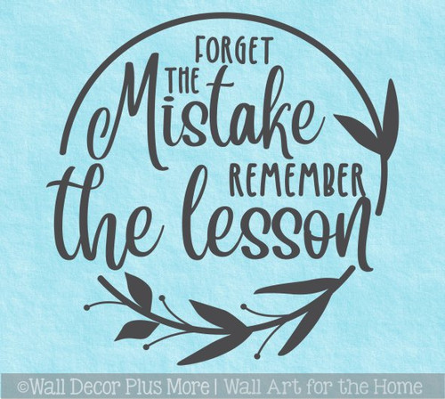Inspiring Decals for Schools Forget Mistake Remember Lesson Wall Art