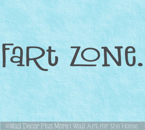 Funny Bathroom Wall Sticker Fart Zone Decal Art Lettering Decor Words